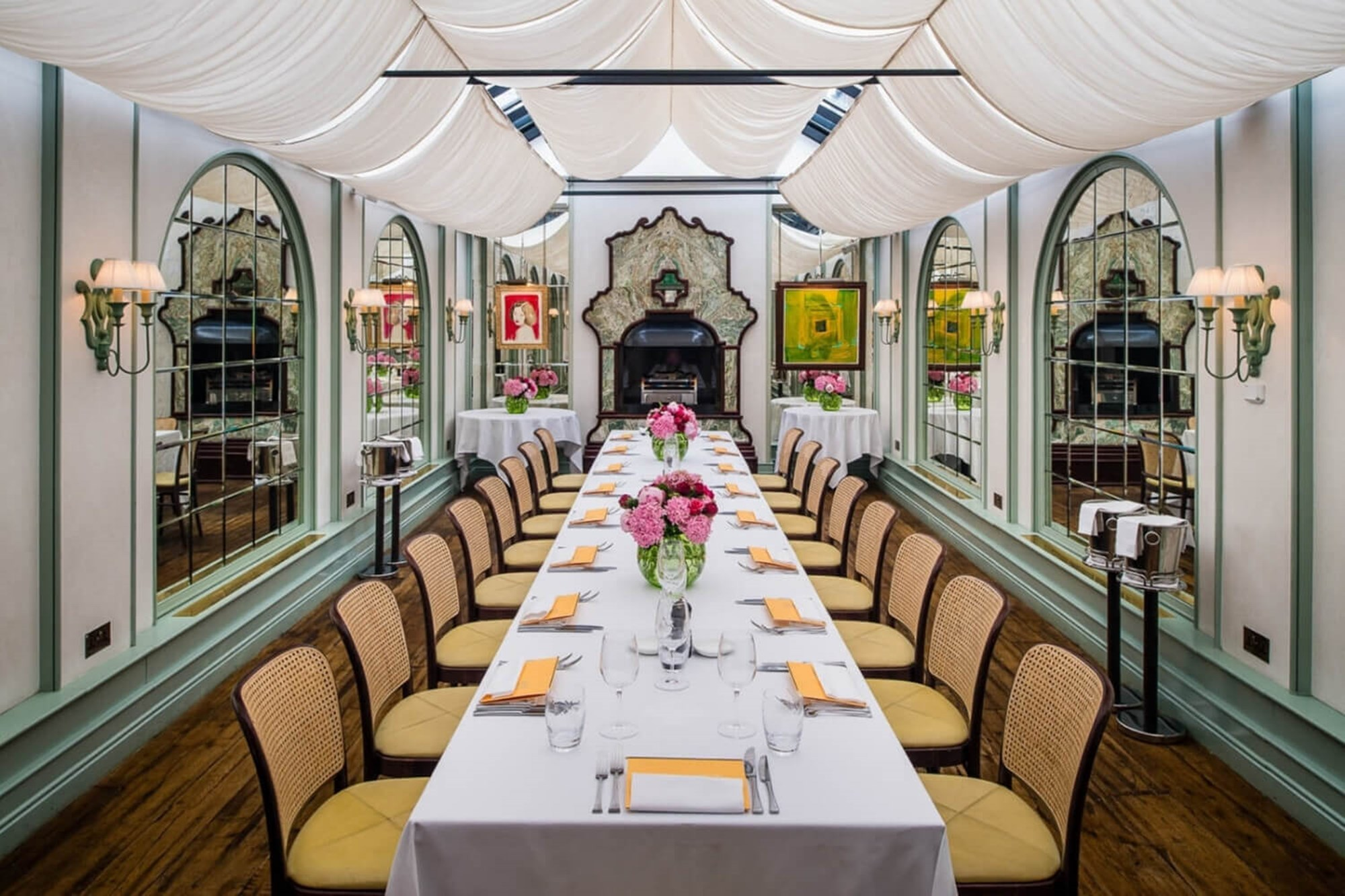 Daphne's private dining room is ideal for birthday celebrations