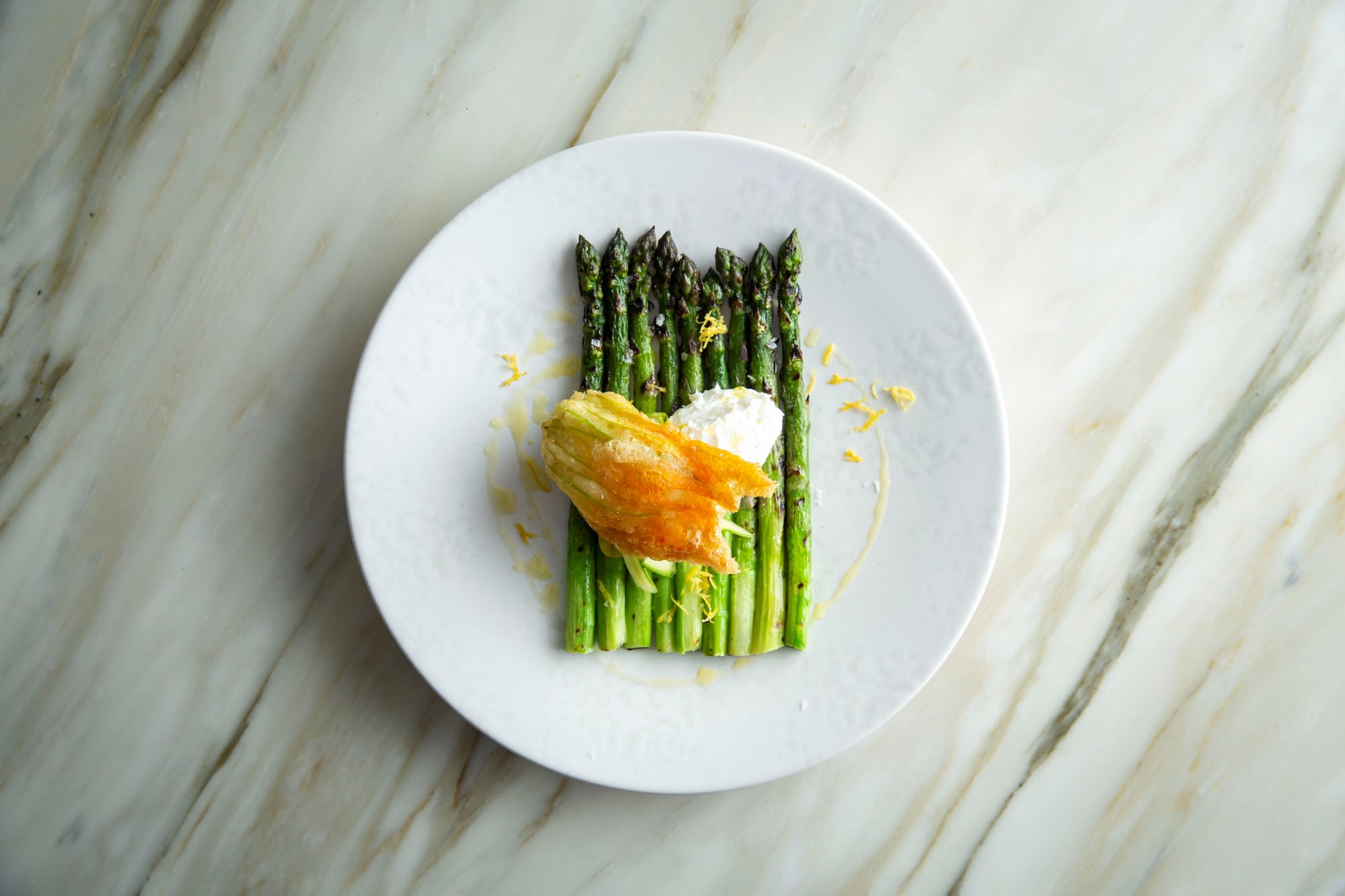 Grilled Asparagus available on the menu at Daphne's in South Kensington